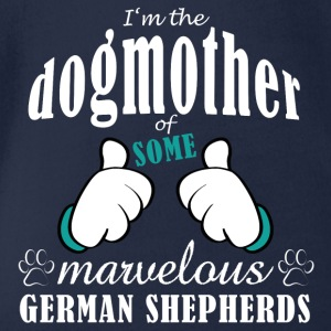 Dogmother some German Shepherds Shirts - Organic Short-sleeved Baby Bodysuit