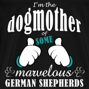 Dogmother some German Shepherds Tassen & rugzakken - Mannen Premium T-shirt