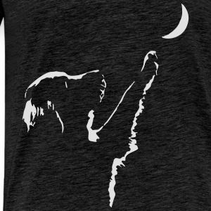 dog moon Tops - Men's Premium T-Shirt