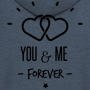 you & me forever Tops - Men's Premium Hooded Jacket