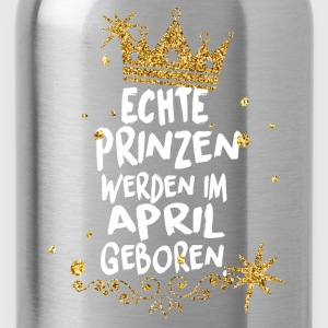 Real princes are born in April T-Shirts - Water Bottle