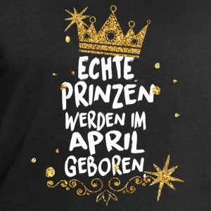 Real princes are born in April Long Sleeve Shirts - Men's Sweatshirt by Stanley & Stella