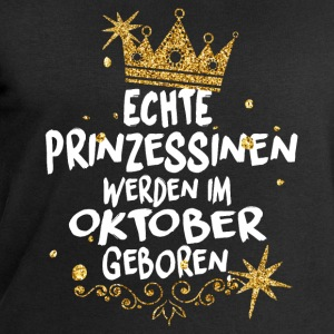Real Princesses are born in October Long sleeve shirts - Men's Sweatshirt by Stanley & Stella