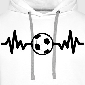 Football is life, Funny Football - Men's Premium Hoodie