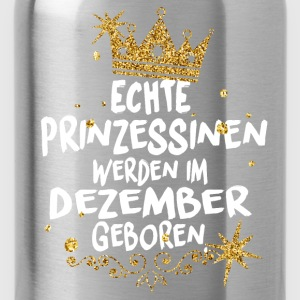 Real Princesses are born in December Long Sleeve Shirts - Water Bottle