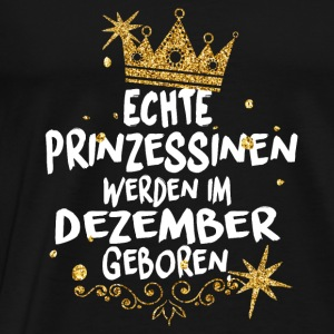 Real Princesses are born in December Long Sleeve Shirts - Men's Premium T-Shirt
