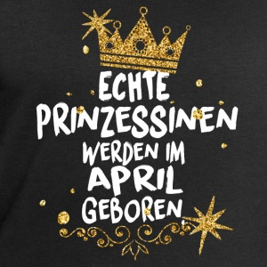 Real Princesses are born in April T-Shirts - Men's Sweatshirt by Stanley & Stella