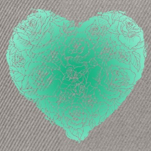 Floral heart - mint Tee shirts - Casquette snapback