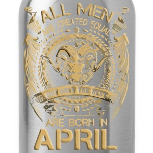Gift for men the best are born in April shirt - Water Bottle