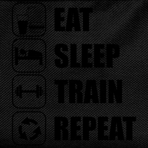 Eat,sleep,train,repeat Gym T-shirt - Kinder Rucksack