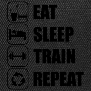 Eat,sleep,train,repeat Gym T-shirt - Snapback Cap