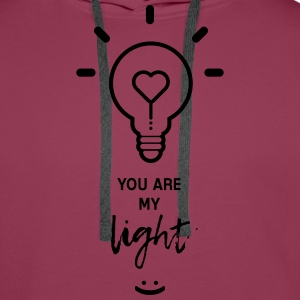 you are my light T-shirts - Mannen Premium hoodie