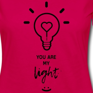 you are my light T-shirts - Vrouwen Premium shirt met lange mouwen