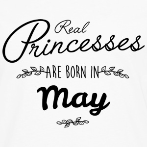 Real princesses are born in May  T-Shirts - Men's Premium Longsleeve Shirt