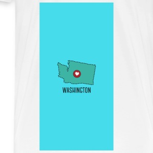Washington State Herz - Case Other - Men's Premium T-Shirt