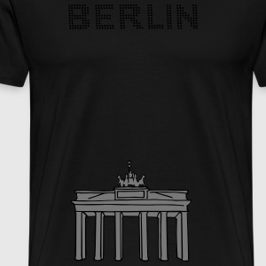 Brandenburg Gate in Berlin 2 Bags & Backpacks - Men's Premium T-Shirt