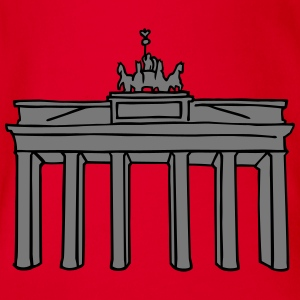 Brandenburg Gate in Berlin 2 Shirts - Organic Short-sleeved Baby Bodysuit