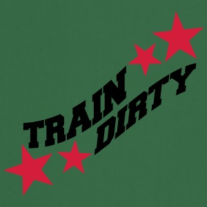 Text healthy train logo stamp weights spoof cool d T-Shirts - Cooking Apron