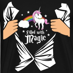 Einhorn - Filled with Magic Sweatshirts - Herre premium T-shirt