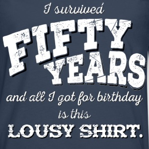 Lousy Shirt 50th Birthday - white - Männer Premium Langarmshirt