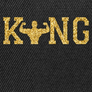 Weight lifting koning T-shirts - Snapback cap