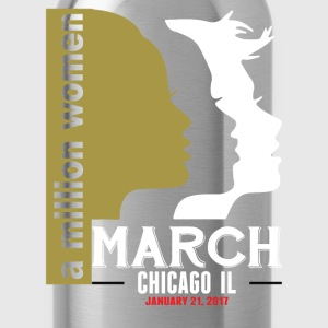 Women's March Chicago Il T-Shirts - Water Bottle