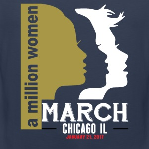 Women's March Chicago Il T-Shirts - Men's Premium Tank Top