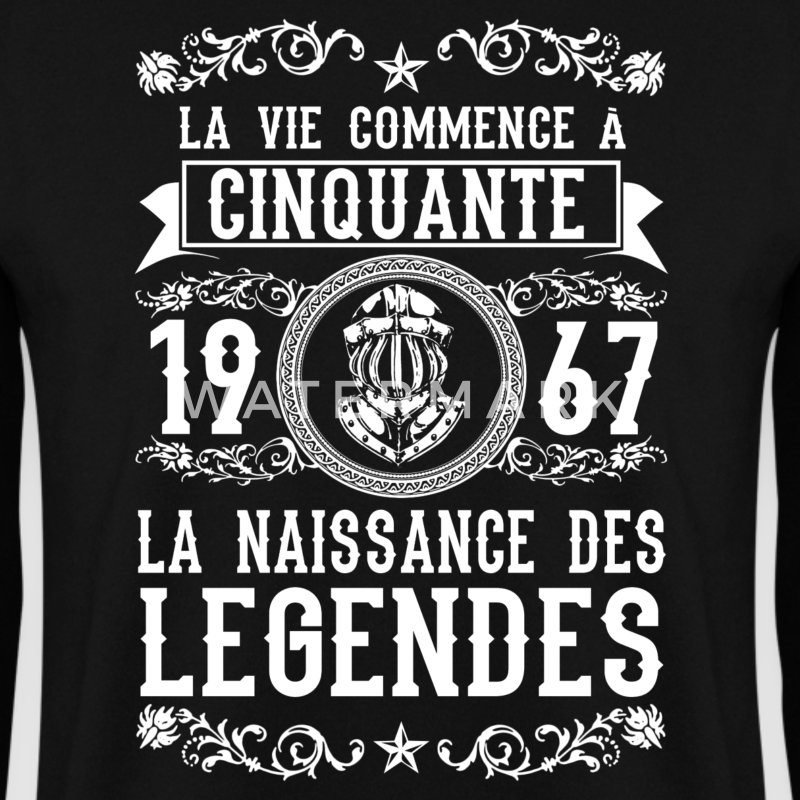 1967 - 50 ans - Légendes - 2017 Sweat-shirts - Sweat-shirt Homme