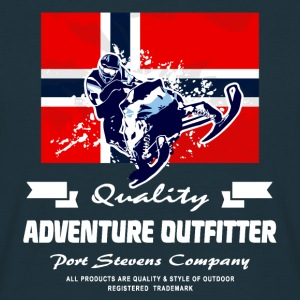Snowmobile - Norway Flag Pullover & Hoodies - Männer T-Shirt