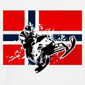 Snowmobile - Norway Flag Sportbekleidung - Männer Premium T-Shirt