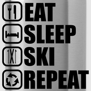 Eat,sleep,ski,repeat, t-shirt ski  - Gourde