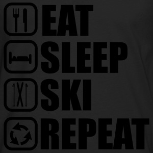 Eat,sleep,ski,repeat, t-shirt ski  - T-shirt manches longues Premium Homme