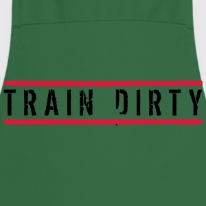Logo 2 lines stamp button weight spoof cool text d T-Shirts - Cooking Apron