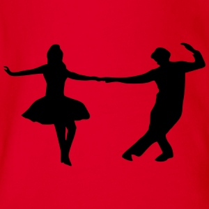 dancing couple T-shirts - Ekologisk kortärmad babybody