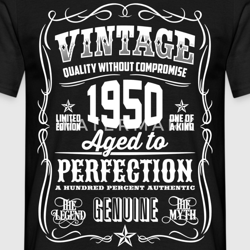 1950 Aged to perfection white print - Men's T-Shirt