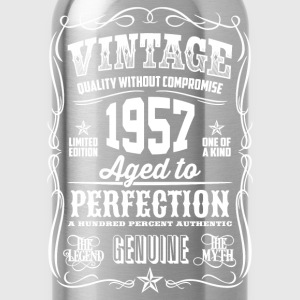 1957 Aged to Perfection White print - Water Bottle