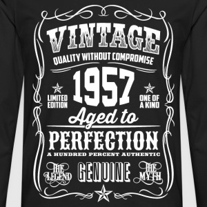 1957 Aged to Perfection White print - Men's Premium Longsleeve Shirt