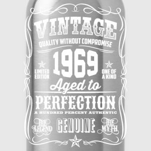 1969 Aged to Perfection White print - Water Bottle