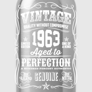 1963 Aged to Perfection White print - Water Bottle