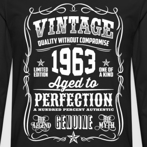 1963 Aged to Perfection White print - Men's Premium Longsleeve Shirt
