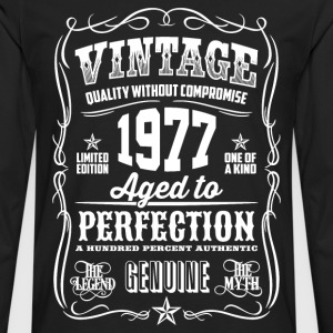 1977 Aged to Perfection White print - Men's Premium Longsleeve Shirt