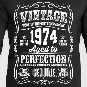 1974 Aged to Perfection White print - Men's Sweatshirt by Stanley & Stella