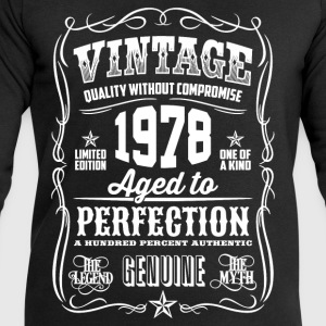 1978 Aged to Perfection White print - Men's Sweatshirt by Stanley & Stella