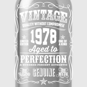 1978 Aged to Perfection White print - Water Bottle