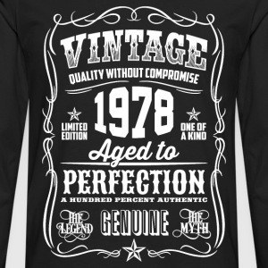 1978 Aged to Perfection White print - Men's Premium Longsleeve Shirt