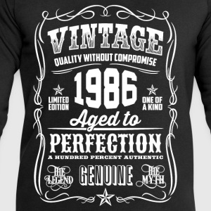 1986 Aged to Perfection White print - Men's Sweatshirt by Stanley & Stella
