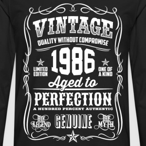1986 Aged to Perfection White print - Men's Premium Longsleeve Shirt