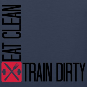 Weights clean healthy health eat sleep train logo  T-Shirts - Men's Premium Tank Top