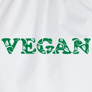 Vegan, vegetarian, power, text, nature, Healthy  - Drawstring Bag