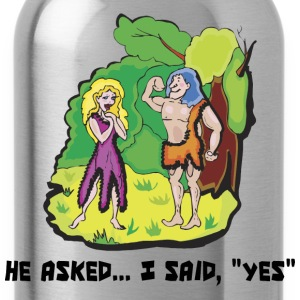 Engaged He Asked I Said Yes - Water Bottle